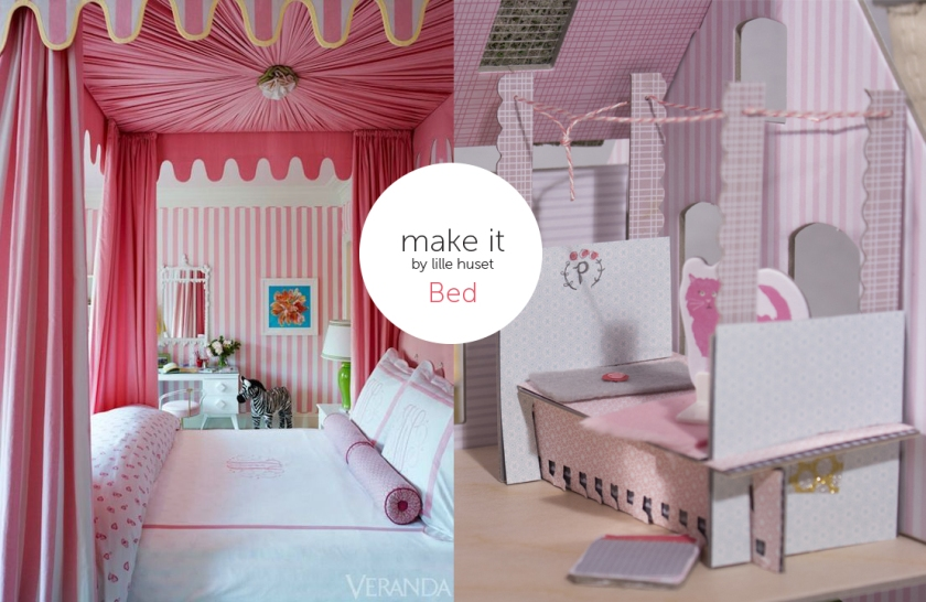 dollhouse bed accessory for lille huset
