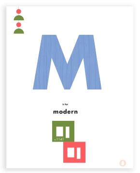 modern house letter art