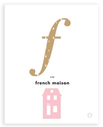 french house letter art
